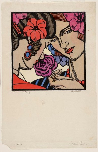 An image of The rose by Thea Proctor