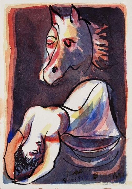 An image of The nightmare by Charles Blackman
