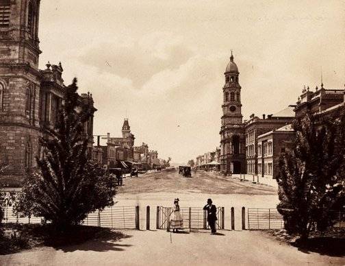 An image of King William Street, Adelaide by Samuel White Sweet