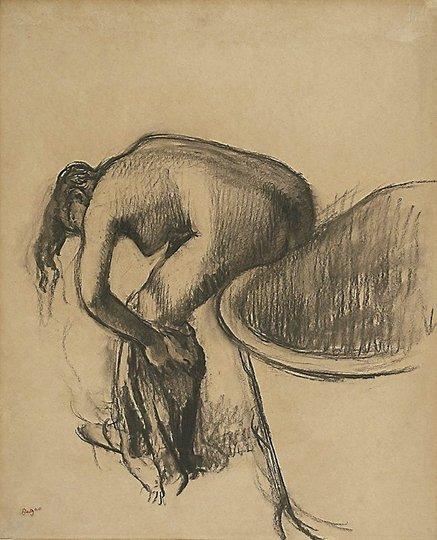 AGNSW collection Edgar Degas After the bath (circa 1900) 222.1994