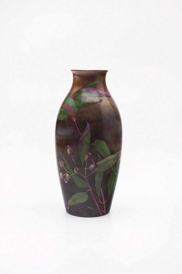 An image of Vase with gumnut and leaf design