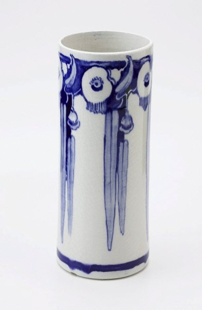 An image of Vase with gumleaf and flower design by Martin Moroney