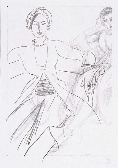 An image of Persian woman (return from Tahiti) by Henri Matisse