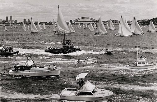 An image of Sydney - Hobart yacht race start by David Moore