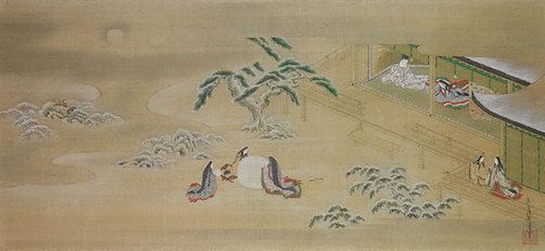 An image of Episode from 'The bluebell', Chapter 20 of the 'Tale of Genji' by TOSA Mitsuoki