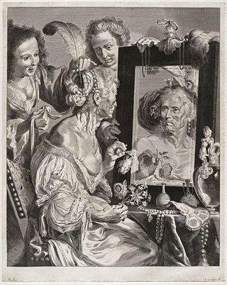 AGNSW collection Jeremias Falck, after Bernardo Strozzi Vanitas (17th century) 223.2007