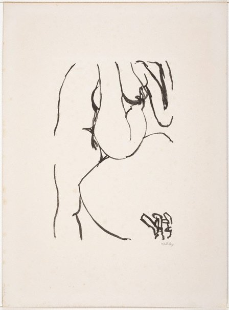 An image of Nude (Bathroom series) by Brett Whiteley