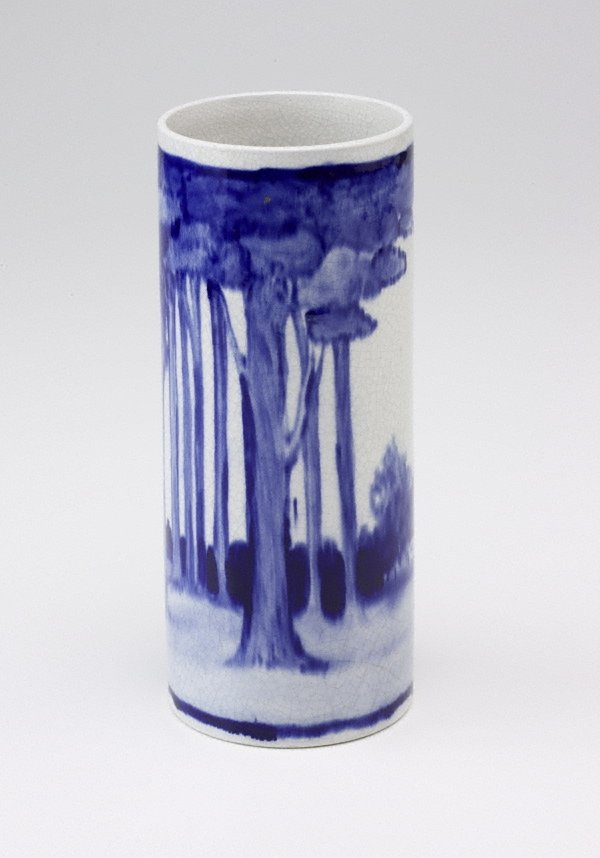 An image of Vase with pastoral design