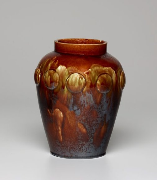 An image of Vase with raised medallions by Marian Munday