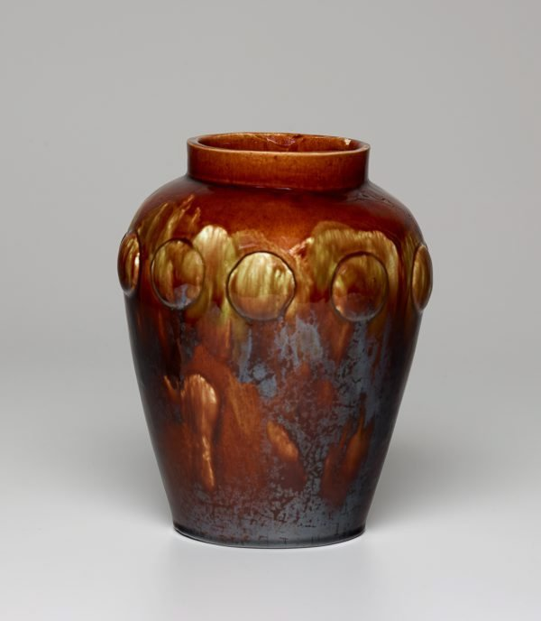 An image of Vase with raised medallions