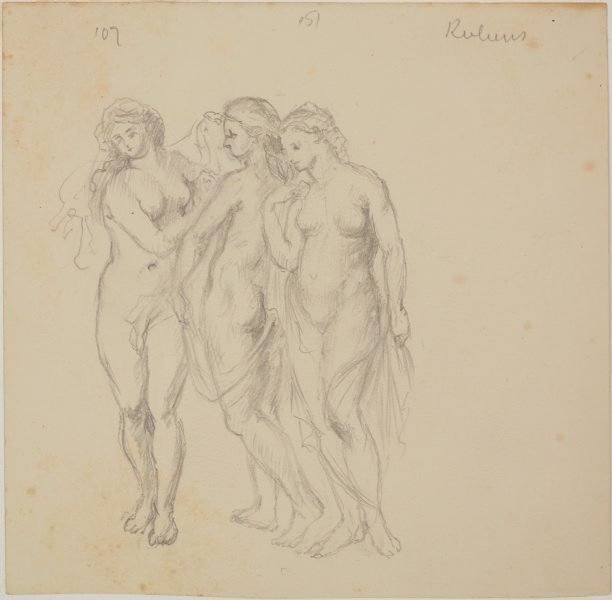 An image of Copy after Rubens' 'The three graces'