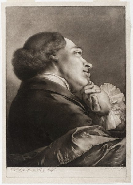 An image of Man facing right with head tilted by Thomas Frye