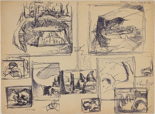An image of recto: (Studies for various paintings) verso: (Studies for various paintings) by James Gleeson