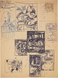 Alternate image of recto: (Studies for various paintings) verso: (Studies for various paintings) by James Gleeson
