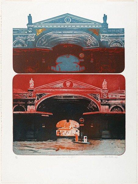 An image of London series - Smithfield by Earle Backen