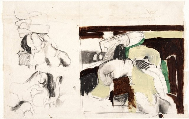 An image of (Sheet of nude studies)