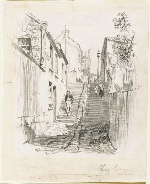 An image of Ferry Lane by Lionel Lindsay