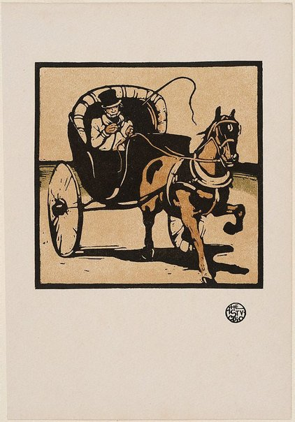 An image of The cabriolet by Sir William Nicholson