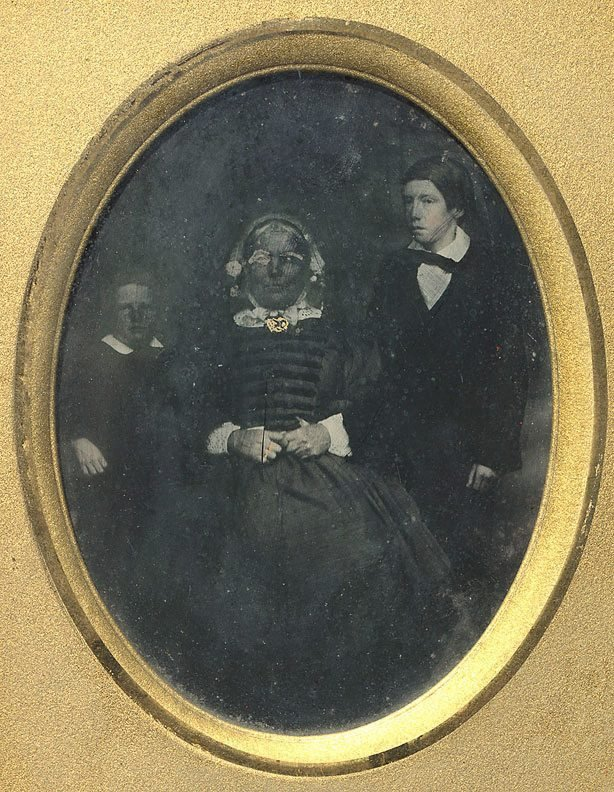 An image of Jannet Walker and grandsons James and John Stephenson