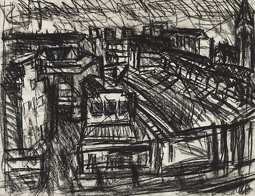 An image of Dalston Junction by Leon Kossoff