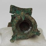 Alternate image of Oil lamp with stem in form of Garuda by