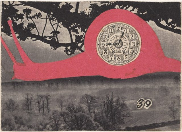 39 [pink snail], (1945) by Carl Plate