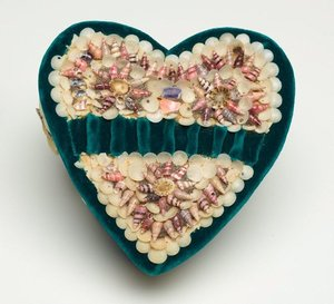 Heart shaped box, (circa 1940s) by Unknown