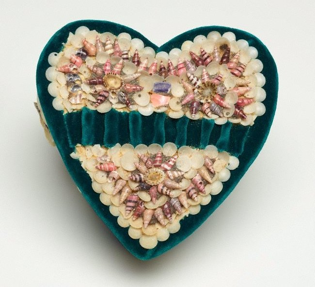 AGNSW collection Unknown Heart shaped box circa 1940s
