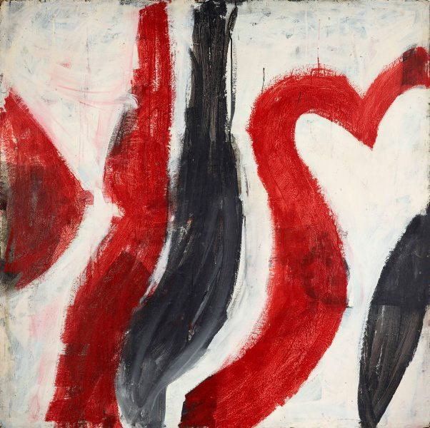 An image of (Red, black & white - arabesques no 1)