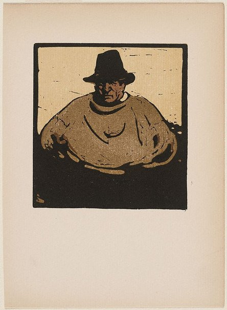 An image of A fisher by Sir William Nicholson