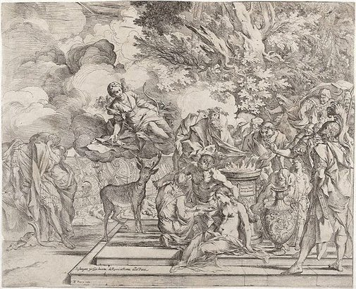 An image of The sacrifice of Iphigenia by Pietro Testa