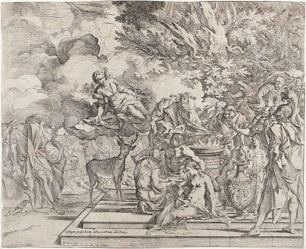 An image of The sacrifice of Iphigenia