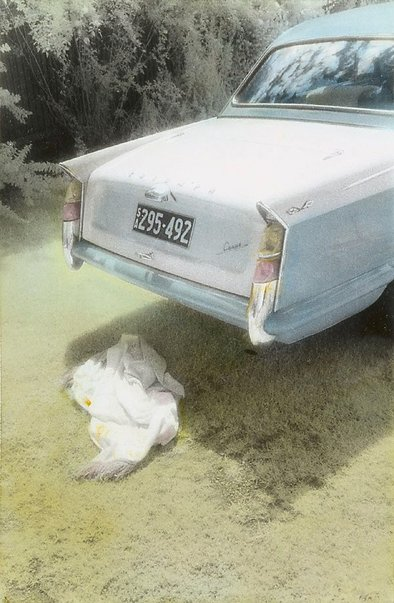 An image of Untitled (Triumph car) by Kate Breakey