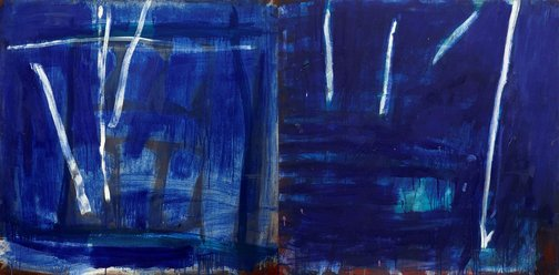 An image of (Two panels blue) by Tony Tuckson