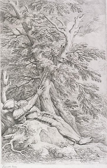 An image of Saint William of Maleval by Salvator Rosa