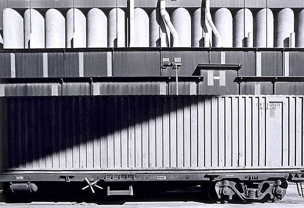 An image of Container train and silos, Sydney