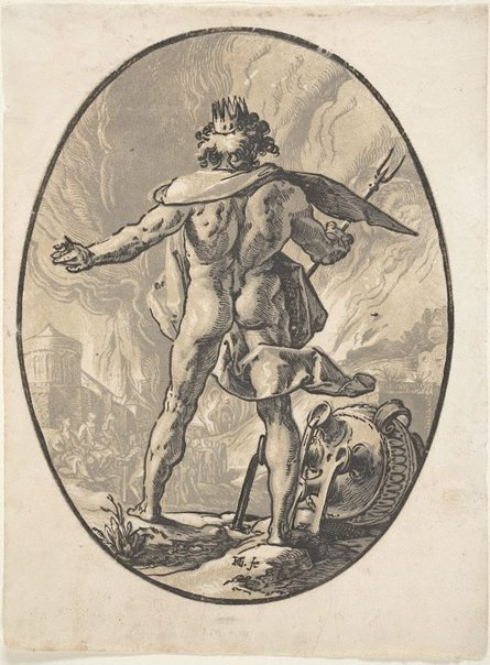 An image of Pluto by Hendrick Goltzius