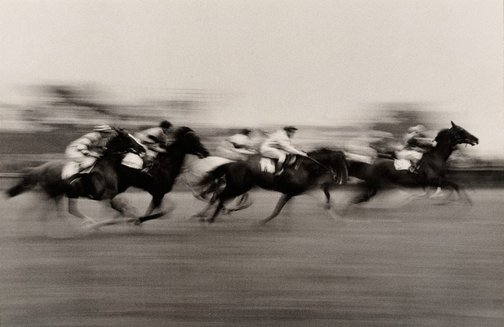 An image of England, Horse race by David Moore