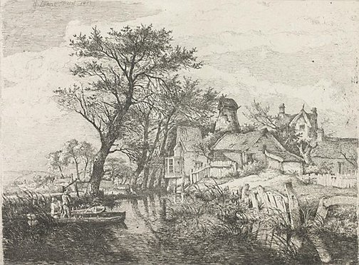 An image of Back of the new mills, Norwich by John Crome