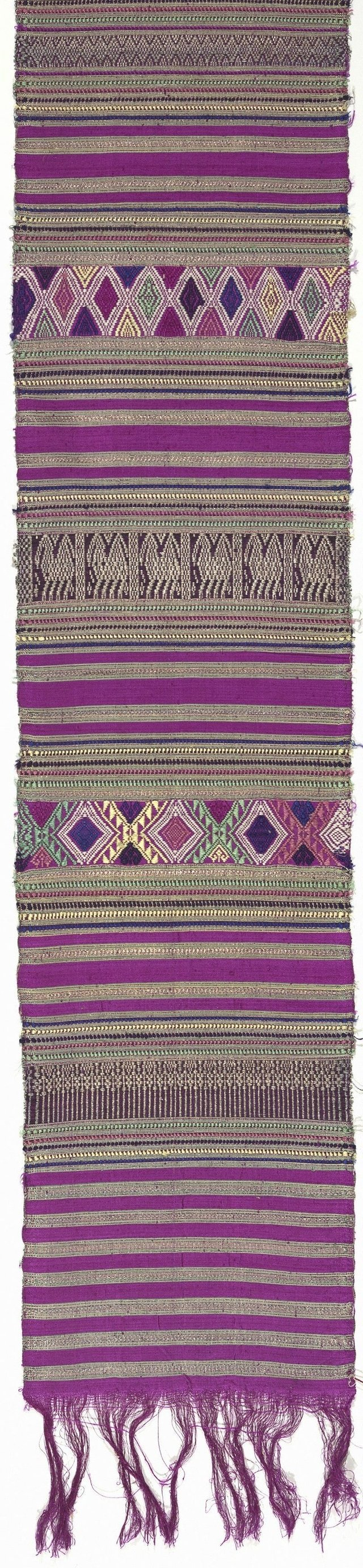An image of Ceremonial cloth with banded geometric designs