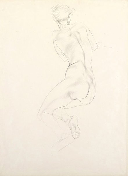 An image of Nude study - woman, back view by Adelaide Perry