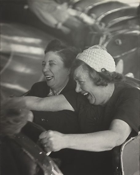 An image of Londoners at the Battersea Fun Fair by David Moore