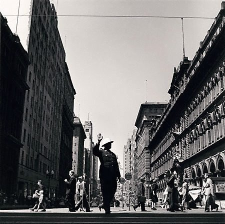An image of Traffic policeman, Martin Place