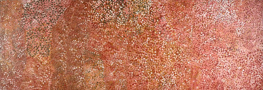 AGNSW collection Emily Kame Kngwarreye Untitled (Alhalker) (1992) 229.1992