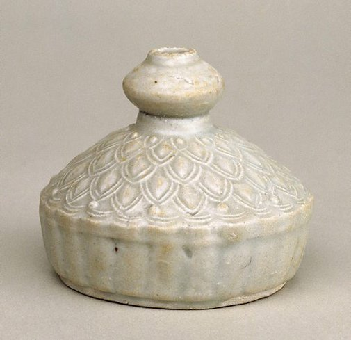 An image of Vase with onion head and wide sloping shoulders by Jingdezhen ware