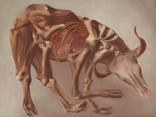 An image of Drought skeleton by Sidney Nolan