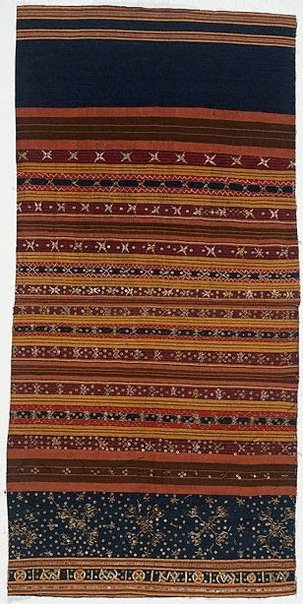 An image of Skirt cloth with fenced sequins ( tapis kaca bekandang) by