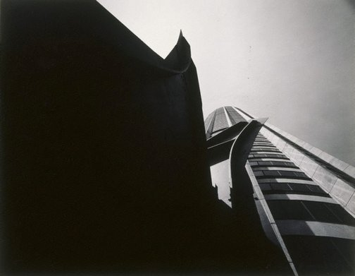 An image of Australia Square and Calder sculpture, Sydney (architect: Harry Seidler & Associates) by Max Dupain