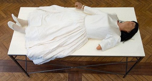 An image of The wax bride by Mike Parr