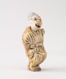 Alternate image of Netsuke in the form of a monkey dressed as a court noble by